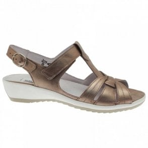 Women's T- Bar Sandal With Velcro Strap