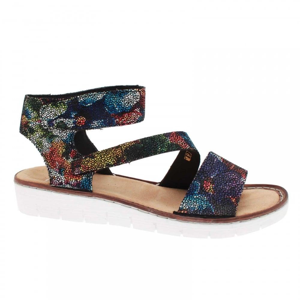 Innovative Rieker Sunflower Womens Velcro Strap Casual Sandals Charles Clinkard