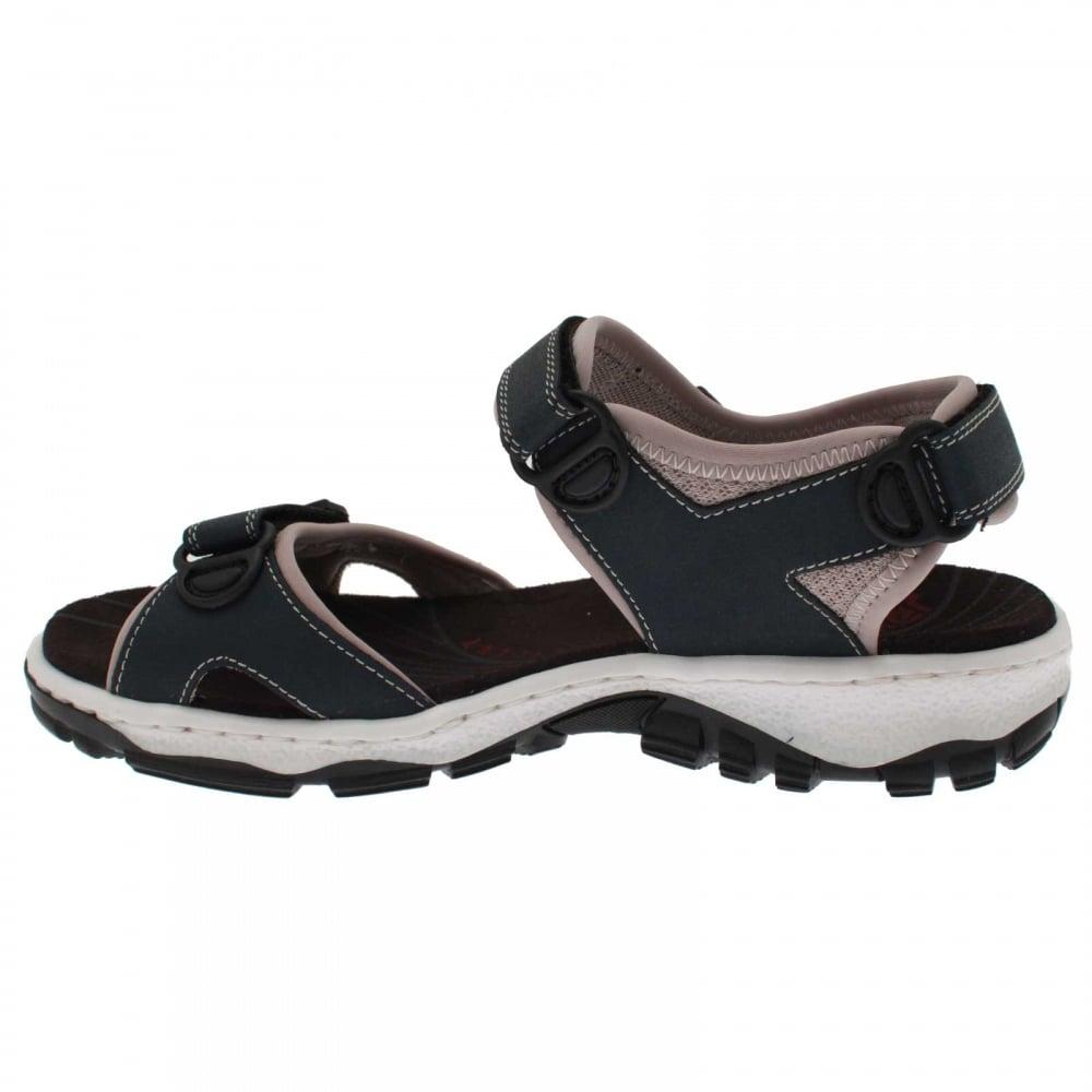 Original Womenu0026#39;s Low Heel Velcro Strap Sandal By Rieker At Walk In Style