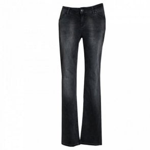 Oui Women's Washed Denim Stretch Jeans