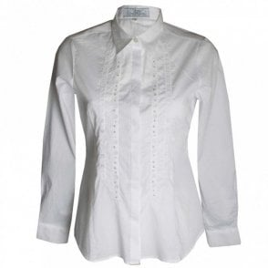 Dani Women's White Stretch Cotton Shirt