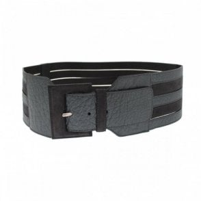 Women's Wide Leather Belt Strap Detail