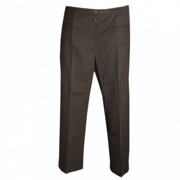 Women's Wool Blend Crop Pants