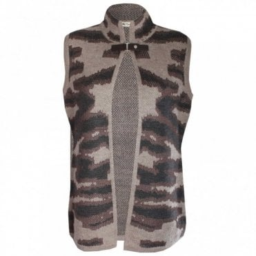Women's Wool Blend Moon Rock Gilet