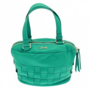 Women's Woven Grab Handle Handbag