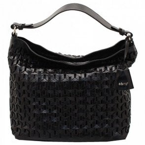 Woven Leather Shoulder Handbag