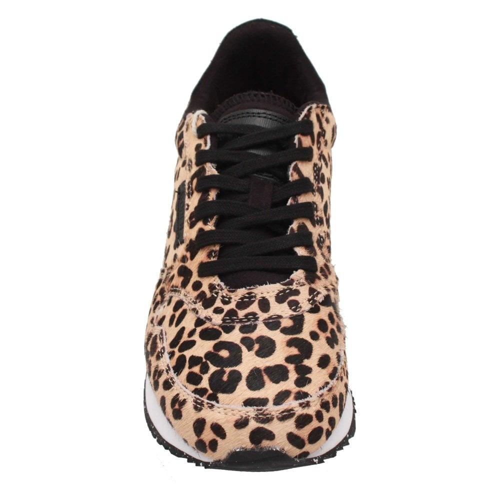 woden trainers leopard print