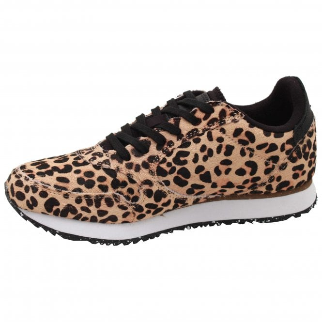 Ydun Leopard Print Lace Up Trainer By