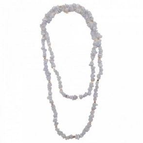 Zara Bluelace Agate Long Necklace