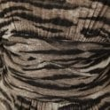 Isabel De Pedro Zebra Print Batwing Ruched Detail Dress