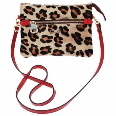 Cats Zip Detail Cross Body Handbag